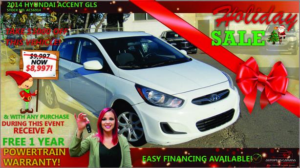 2014 Hyundai Accent GLS - On Sale Now !!