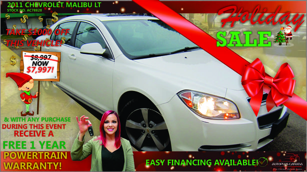 2011 Chevrolet Malibu LT - On Sale Now !!