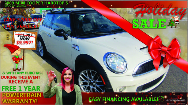 2009 MINI Cooper Hardtop S - On Sale Now !
