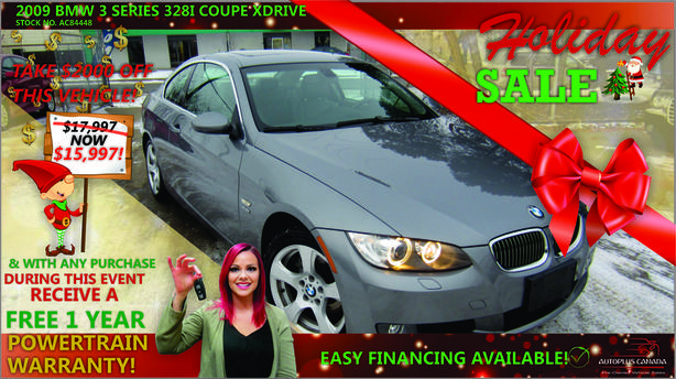 2009 BMW 3 Series 328i Coupe xDrive - On Sale Now !