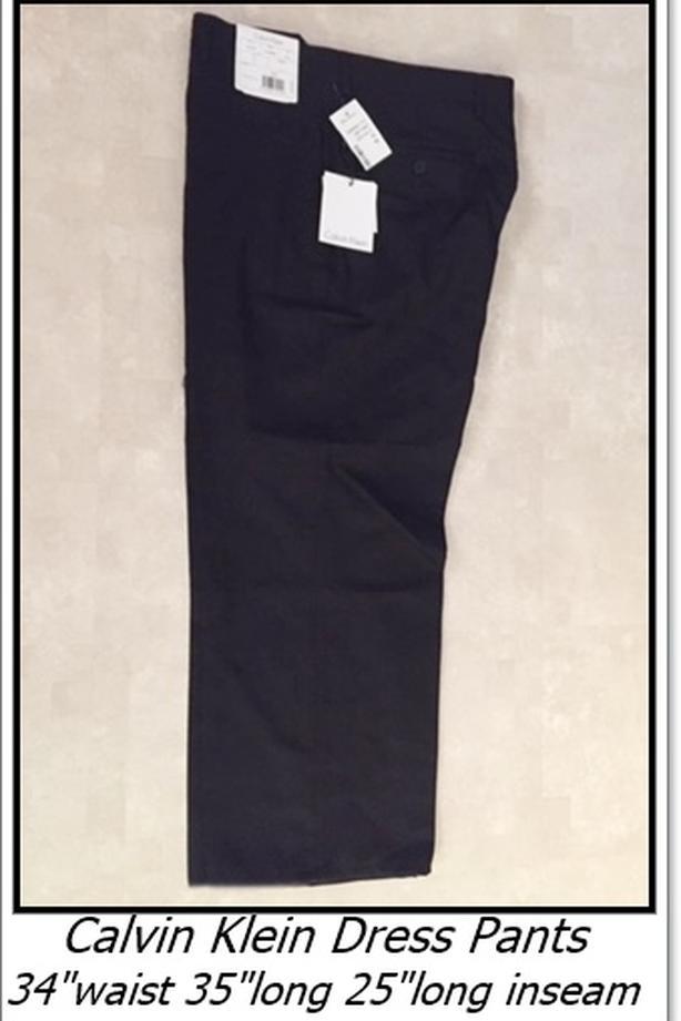 """NEW Calvin Klein Dress Pants, men's, 34""""waist  x 35""""long"""