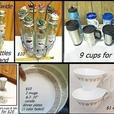 fancy spice rack$10 / tea cups / travel mugs / glasses / corelle