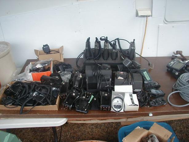 Collection of Motorola MX320 Portable 2 Way Radios Plus More