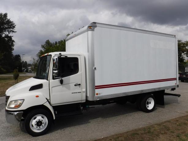 2009 Hino 165 16 Foot Diesel Cube Van with Ramp