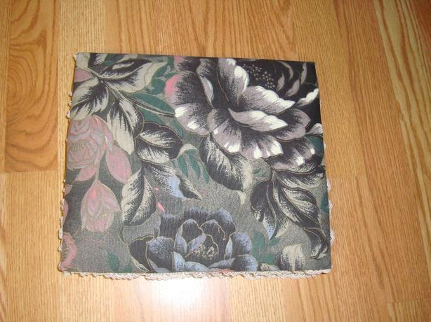 New Grey Floral Fabric Jewellry Box - $10