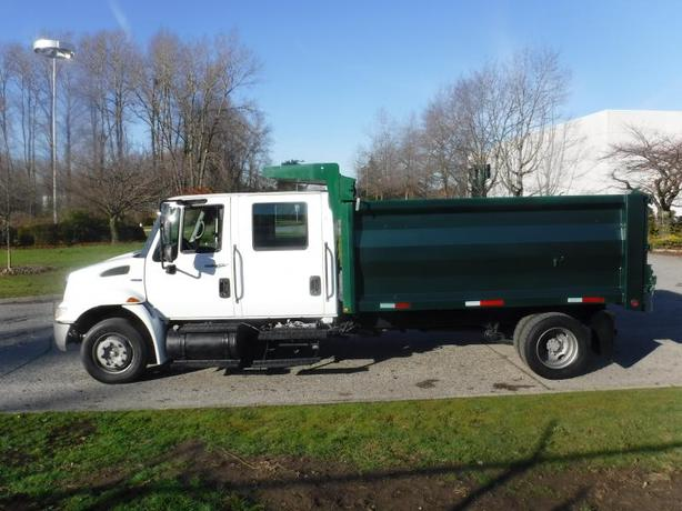 2008 International 4300 Crew Cab Dump Truck 12 foot box Diesel