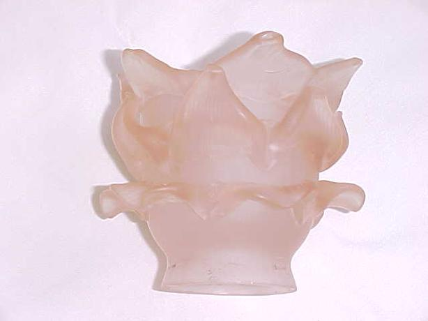 PINK FLOWER PETAL GLASS LAMP SHADE