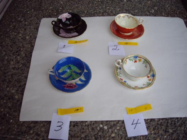 AINSLEY CUPS/SAUSERS+ OCCUPIED JAPAN