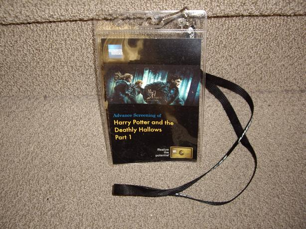 HARRY POTTER WORKING MOVIE PASS