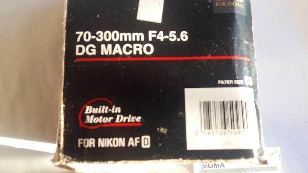 Sigma SLR Lens 70-300mm for Nikon