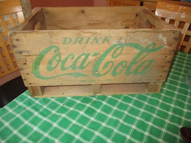 SWEET WOODEN WOOD ENJOY DRINK COCA COLA COKE BOTTLE CARRIER CRATE