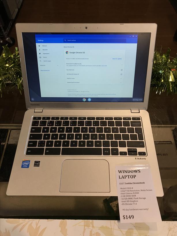 """13.3"""" Toshiba Chromebook CB30-B 2GB RAM 16GB SSD w/ Warranty!"""