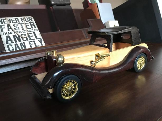 Hand made wooden classic car