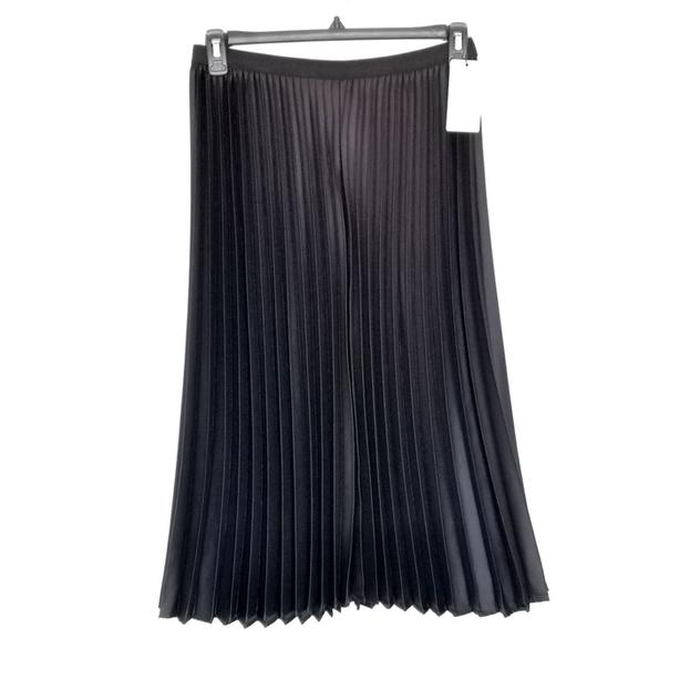nwt Mango Pleat Midi Skirt black S