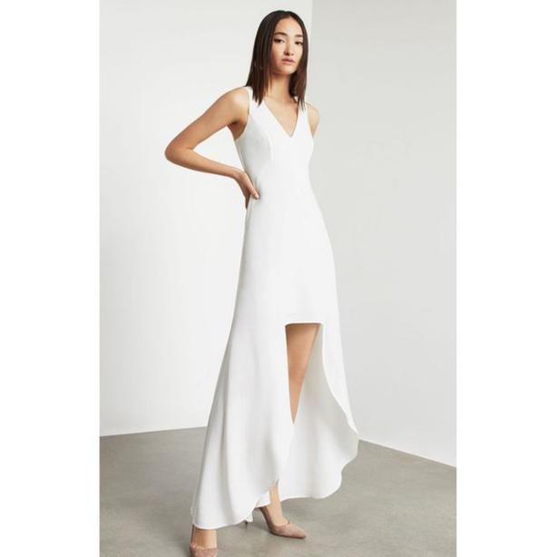 nwt BCBGMAXAZRIA High Low Dress white 8
