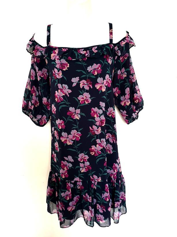 Highline Floral Off-Shoulder Dress M