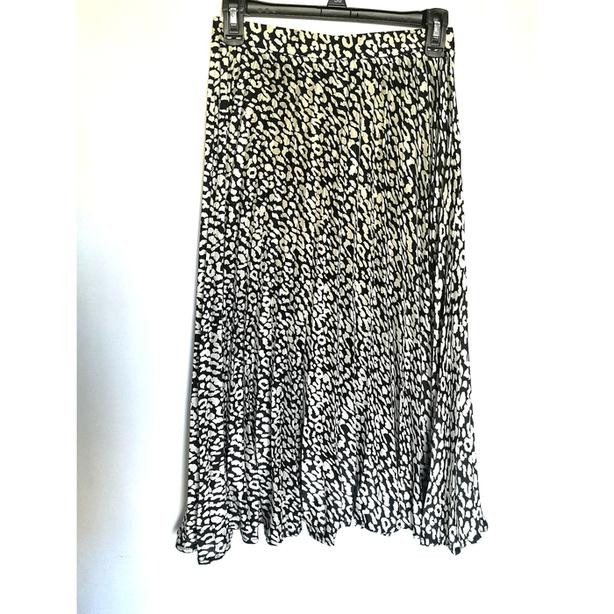 nwt Missguided Pleat Midi Skirt black/white 4