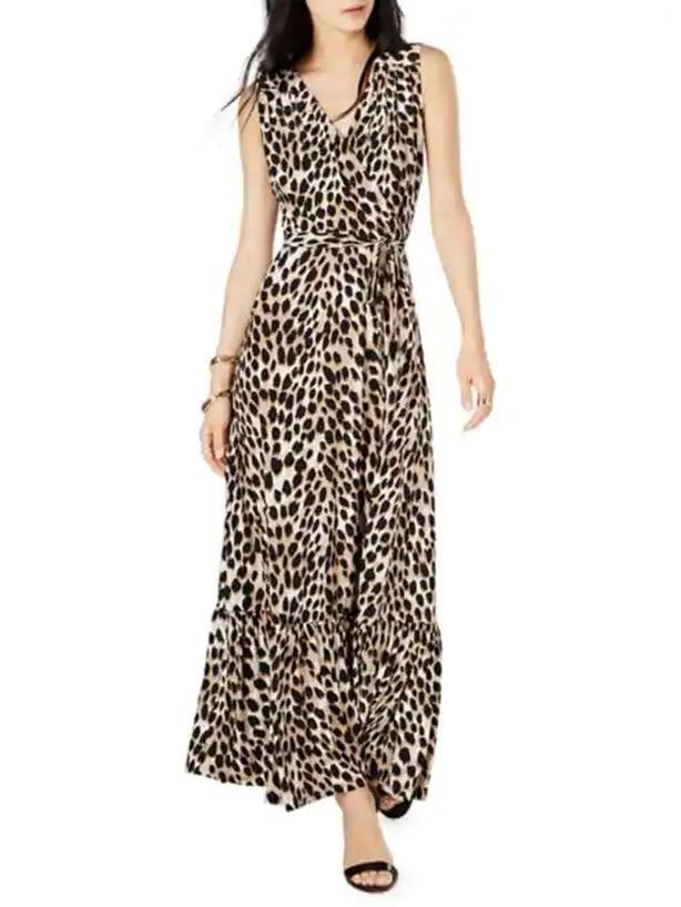 nwt Leopard Maxi Dress S