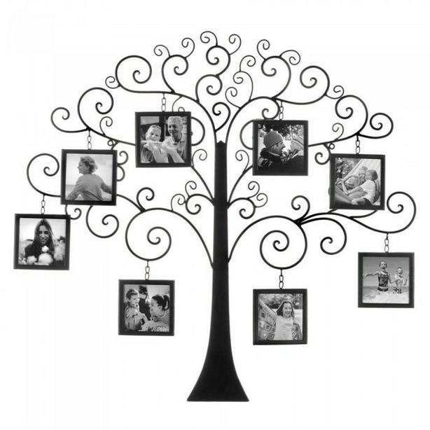 Family Tree Collage Photo Frame Wall Decor Holds 8 Photos Brand New