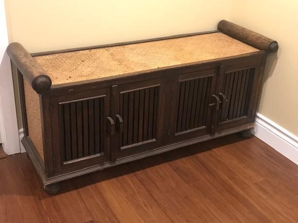 Wooden media/storage stand