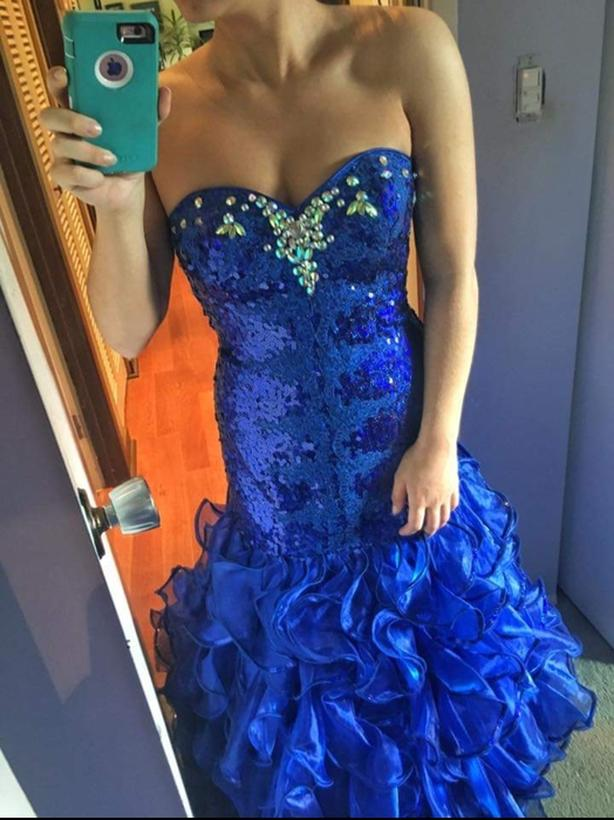 Tiffany Royal Blue Prom Gown