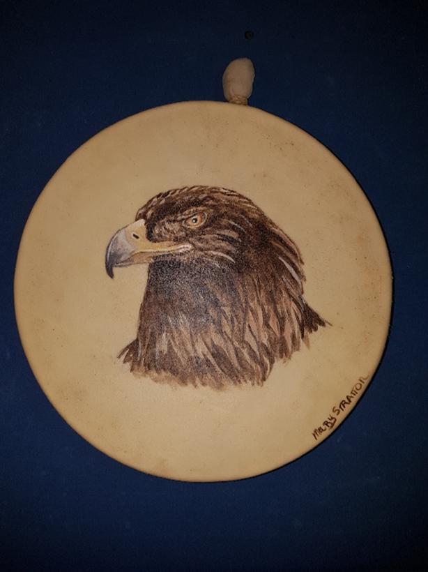 Hand Painted Spirit Animal Native American Drums.