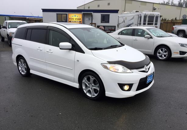 2009 Mazda 5, Pearl White, 2.3L  DOHC 4CYL , Auto, 180,000Kms, 3RD Row Seating