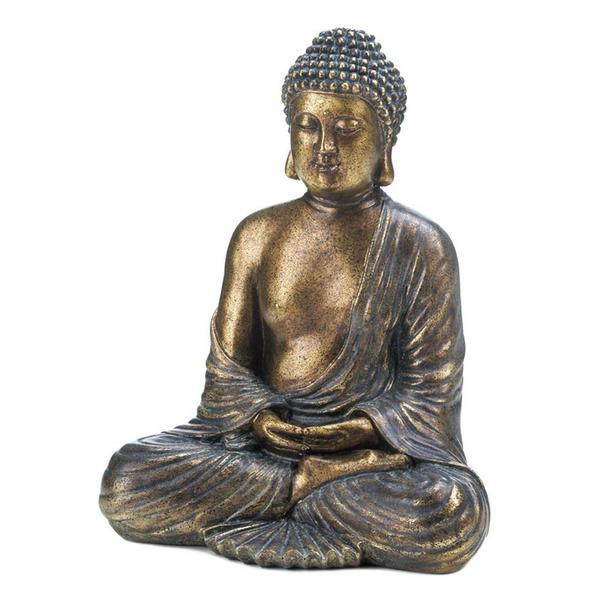Buddha Statue Figurines Sitting & Head Bust 2 Styles Mixed Brand New