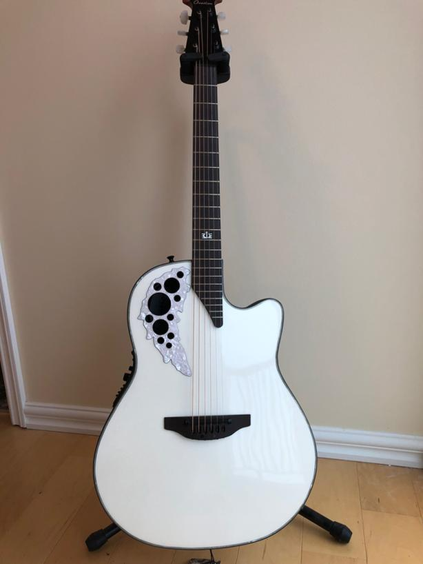 REDUCED 15% Ovation Melissa Etheridge Signature Pearl White Like New