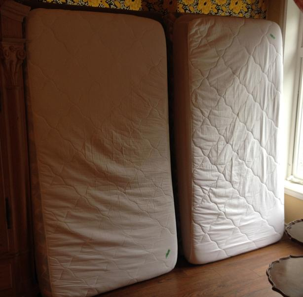 Two Twin Foam Mattress Beds With Frames