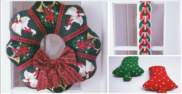 Christmas Wreath & Decorations (Handmade)