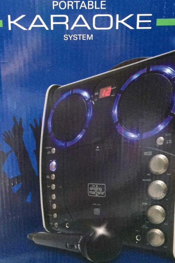 Portable Karaoke System with 280 song choices