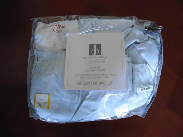 NEW- Light Blue Queen Size Bedskirt