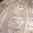 Gorgeous Large Ivory Crocheted Afghan in MINT CONDITION!