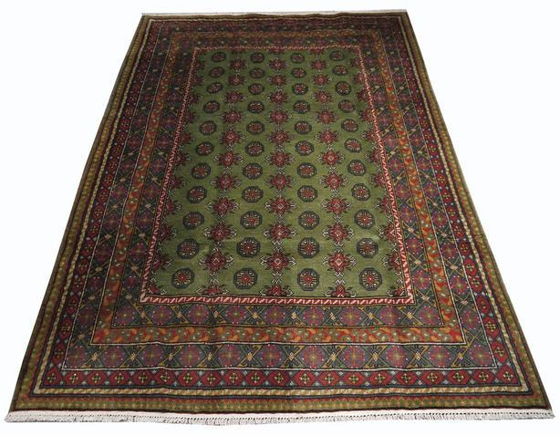 """Handmade Traditional Afghan Area Rug 8'0"""" x 5'1"""""""