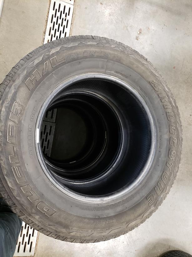255 65 R16 Bridgestone Dueller tires