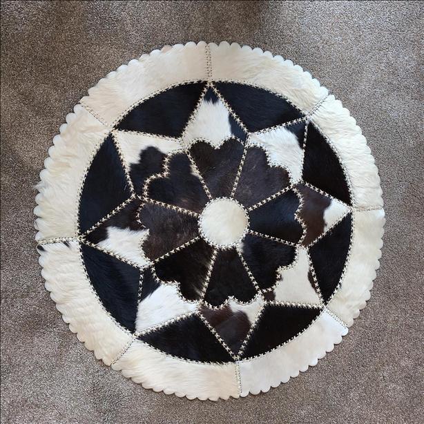 Vintage Argentinian Patchwork Cowhide Rug