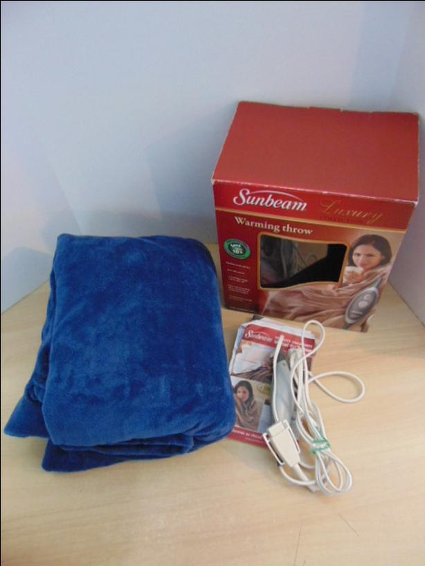 Electric Sunbeam Throw Blanket In Box As New Excellent