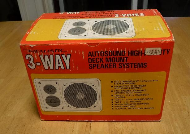 Realistic 3-way Speakers