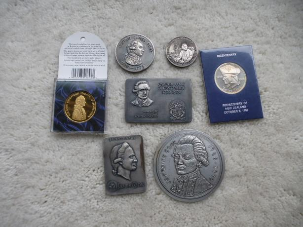 Collection of Captain James Cook coins & Medallions