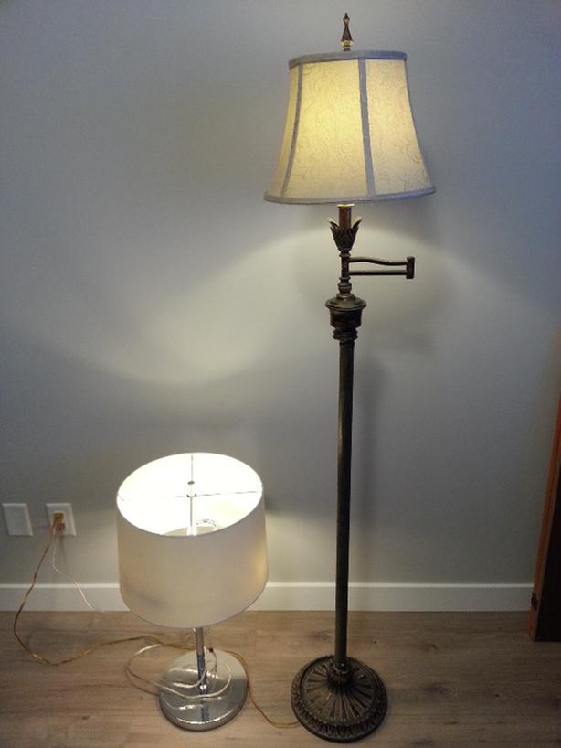"67"" Swing Arm Floor Lamp"