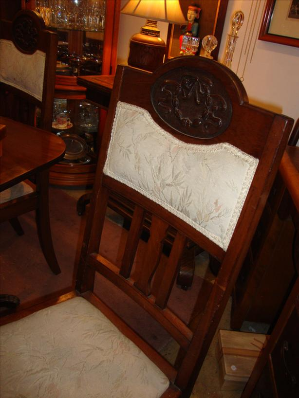 Set of 4 Carved Dining Chairs REDUCED