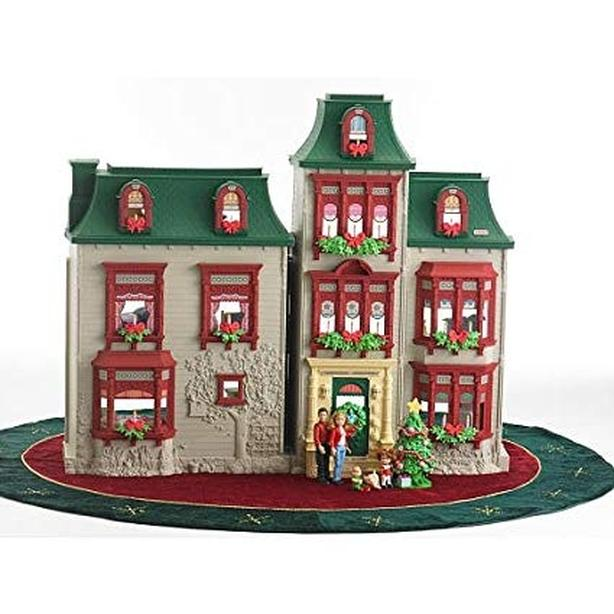 Fisher price loving family Christmas dollhouse with furniture