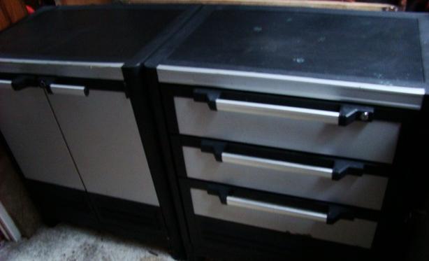 Two Husky Shop Cabinets