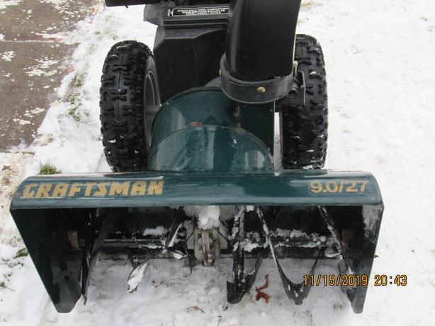 CRAFTMAN 27''WIDTH 9HP. SNOWBLOWER TO TRADE VAN CAR TRUCK