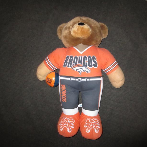 Denver Broncos teddy bear large 1999 NFL 2 ft. tall