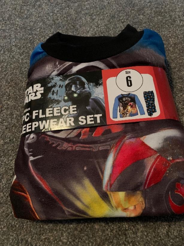 FREE: star wars -Boys 2 -pc fleece sleepwear set