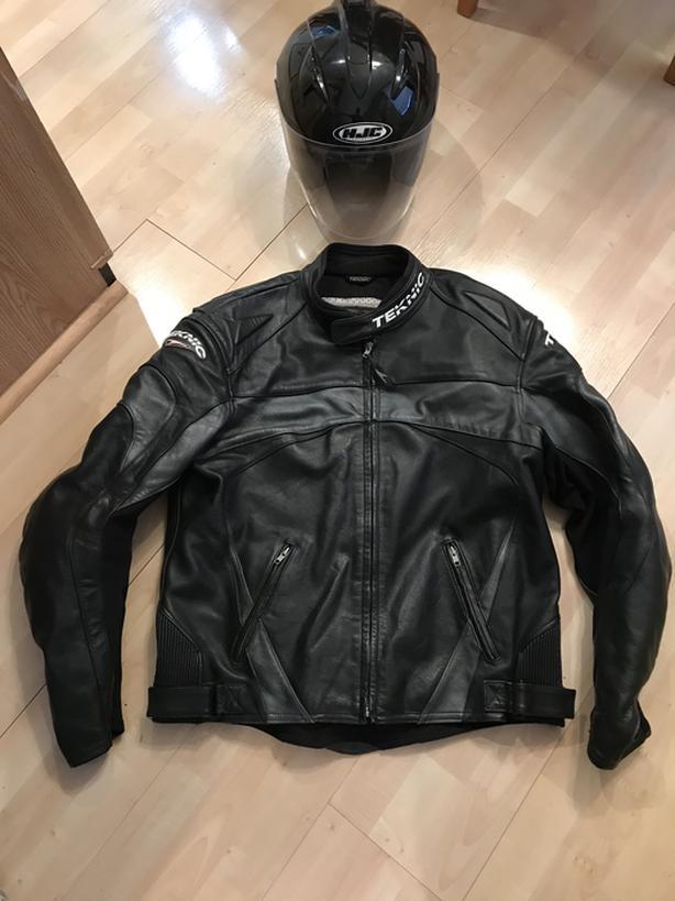 Motorcycle Jacket & Helmet
