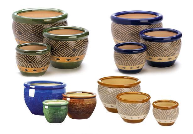Ceramic Flowerpot Planter Trio 11 Different Choose Any 2 Sets Brand New