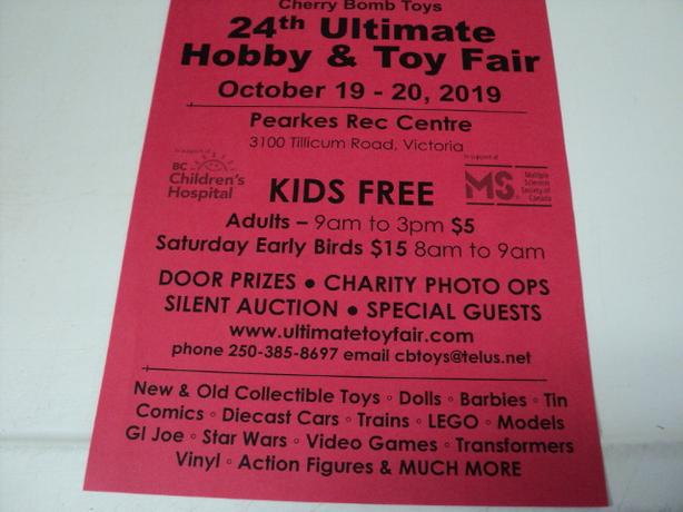 Hobby & Toy Fair in VICTORIA Sat/Sun May 23 & 24 2020 KIDS FREE